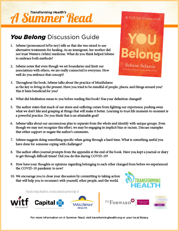 'You Belong' discussion guide